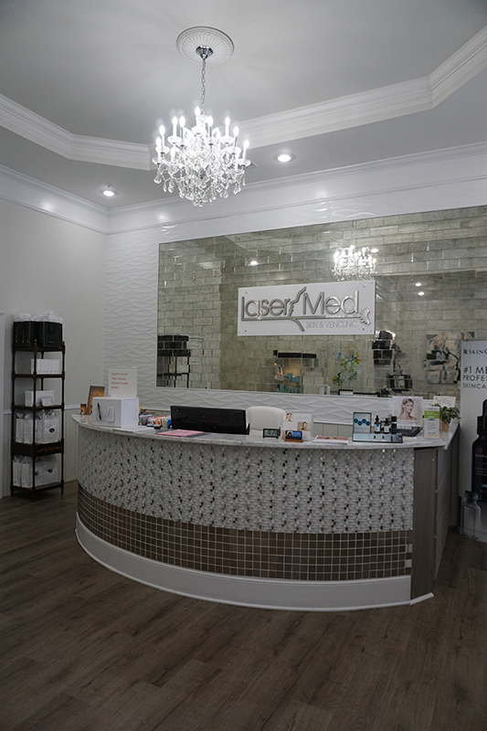 photo of front desk at LaserMed Skin & Vein Clinic